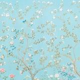 Image of Sample - Schumacher X Miles Redd Madame De Pompadour Wallpaper in Aqua For Sale