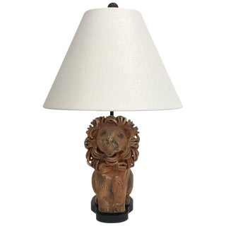 1970's Italian Ceramic Lion Aldo Londi for Bitossi Table Lamp For Sale