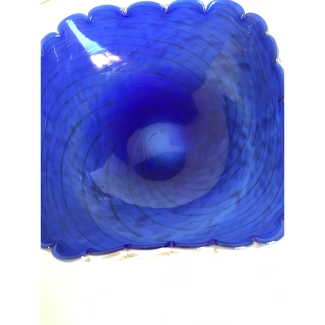 Blue & Gold Blown Glass Bowl - Image 8 of 8