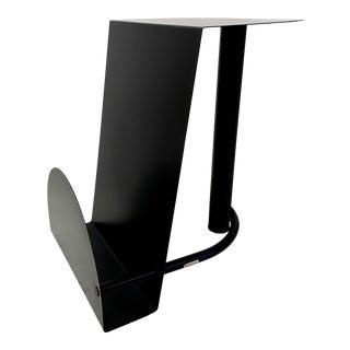 Postmodern Amisco Magazine Rack Side Table For Sale