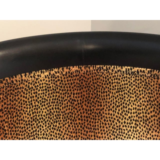 20th Century Traditional Ethan Allen Accent Chair - Animal Print - a Pair For Sale - Image 6 of 12