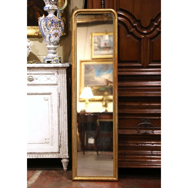 Mid-19th Century French Louis Philippe Giltwood Mirror With Mercury Glass For Sale - Image 11 of 11