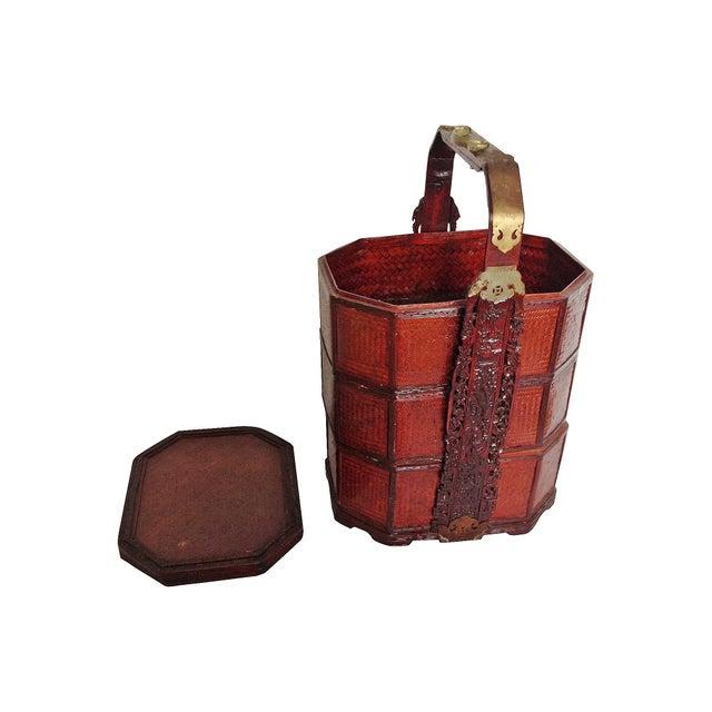Vintage 3-Tier Chinese Wedding Basket - Image 5 of 7