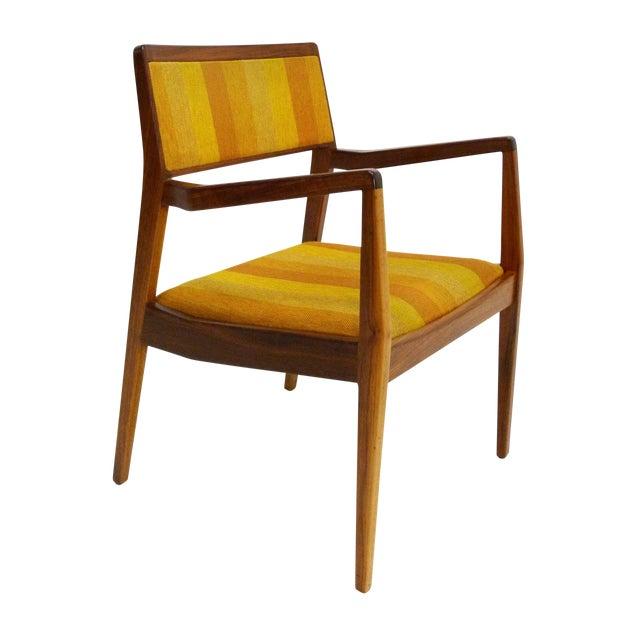 "Jens Risom Oiled Walnut ""Playboy"" Arm Chair - Image 1 of 10"