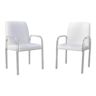 Vintage Mid Century Modern Leon Frost Style Lucite Arm Chairs- A Pair For Sale