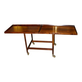 Poul Hundevad Danish Rosewood Serving Trolley For Sale