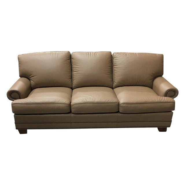 Leathercraft Tan Leather Sofa - Image 1 of 6