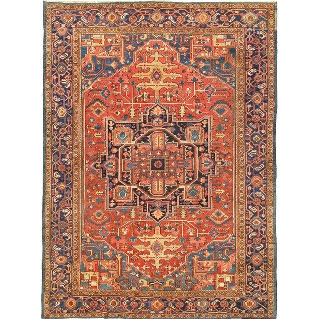 """Antique Persian Heriz Rug- 11'2"""" x 15'3"""" - Image 1 of 6"""