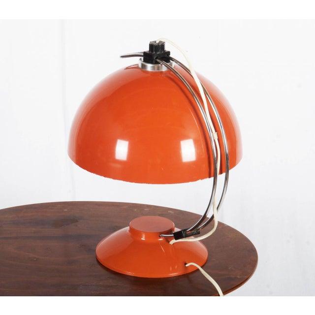 Mid-Century Modern Mid-Century Orange Table Lamp, 1970s For Sale - Image 3 of 6