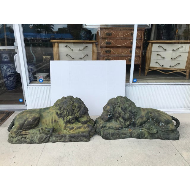 Pair of Lions For Sale - Image 13 of 13