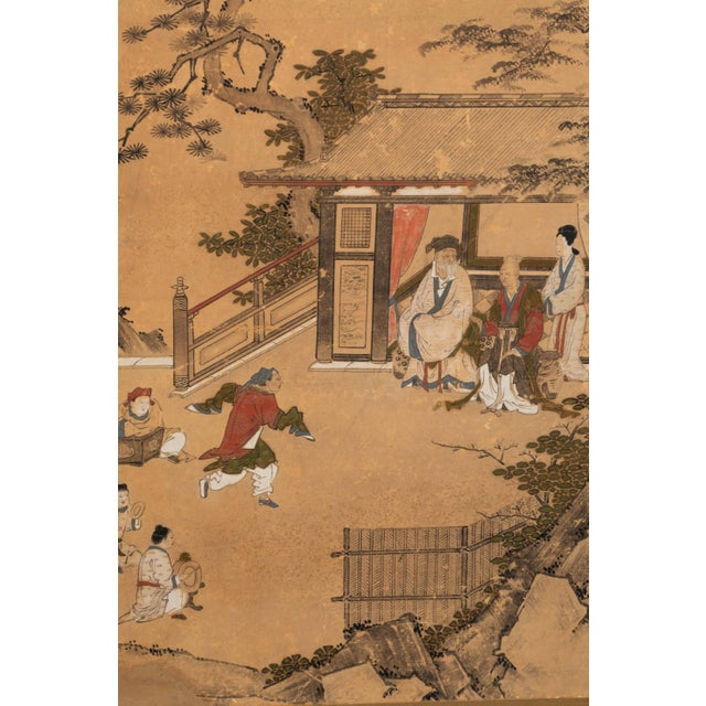 Mid 19th Century Antique Japanese Screen Panels For Sale - Image 5 of 12