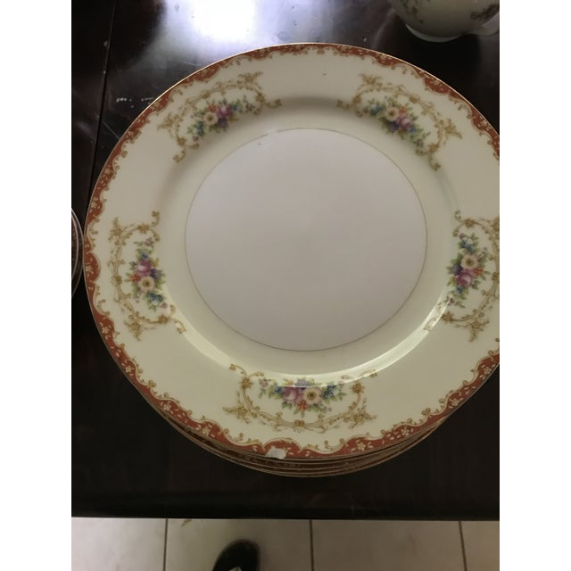 Antique Rare Hinode (Noritake ), Year 1876 Hand Painted China/48 Pieces, Dinnerware. Final Reduction For Sale - Image 10 of 13