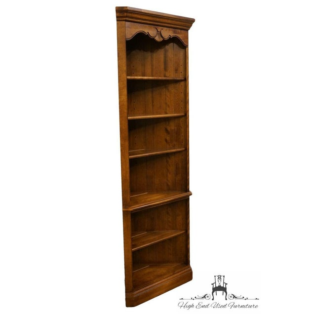 Traditional Ethan Allen Country French Collection Corner Bookcase For Sale - Image 3 of 8