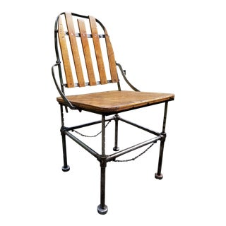 Early Industrial Steel Work Chair by Brizard & Young San Francisco For Sale