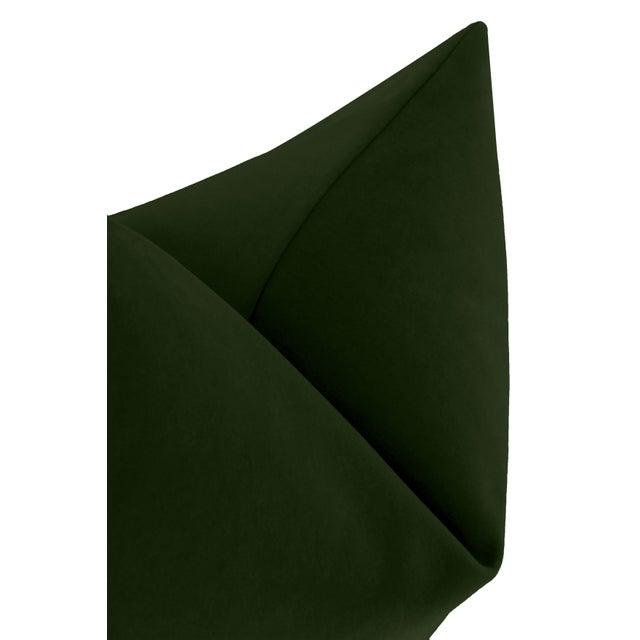 """22"""" Fern Italian Velvet Pillows - a Pair For Sale - Image 4 of 5"""
