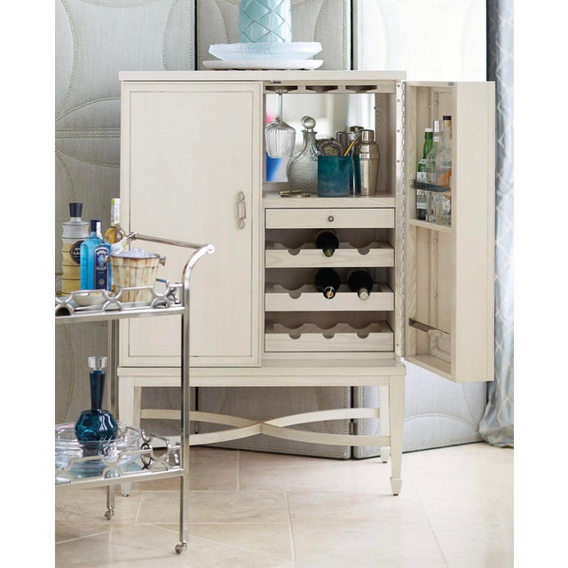 Glass Transitional Criteria Bar Cabinet For Sale - Image 7 of 9