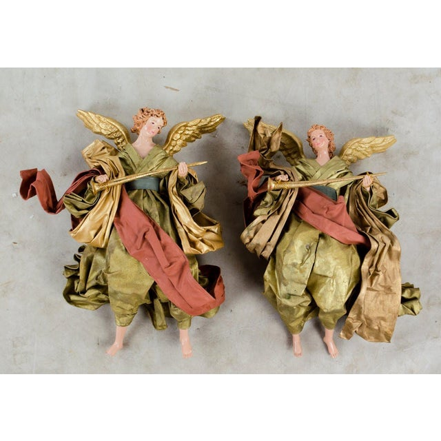20th C. French Neoclassical Giltwood and Angel Sconces - a Pair For Sale - Image 12 of 13