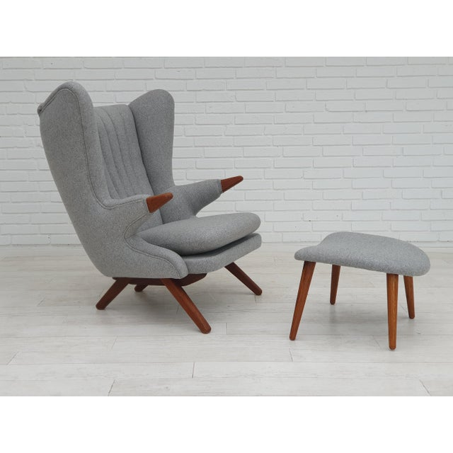 "1970s Danish Design, ""Teddy Bear"" Chair by Svend Skipper, Completely Reupholstered For Sale - Image 13 of 13"