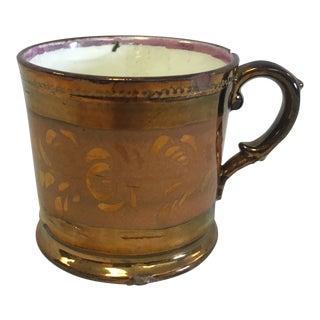 Antique Copper Lustreware Mug For Sale