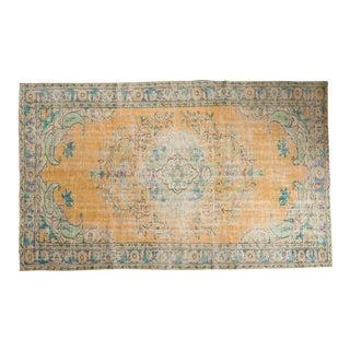 "Vintage Distressed Oushak Carpet - 5'11"" x 9'8"" For Sale"