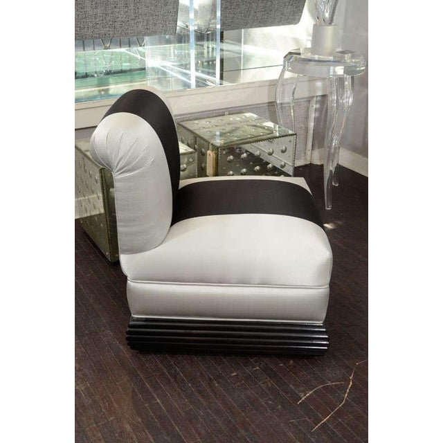 Pair of 1930s Deco Slipper Chairs For Sale - Image 4 of 6