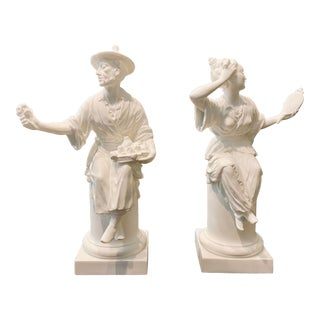 Royal Worcester Chinoiserie Figurines - a Pair For Sale