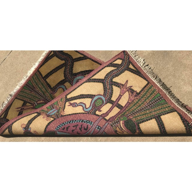 Vintage Hand Knotted Persian Animal Rug- 3′ × 4′6″ For Sale - Image 9 of 10