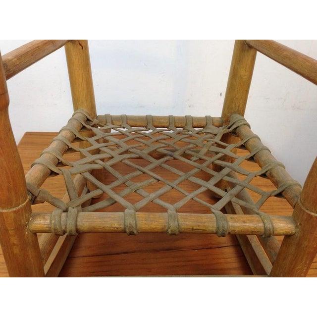 Vintage Carved Oak Rocking Chair - Image 5 of 5