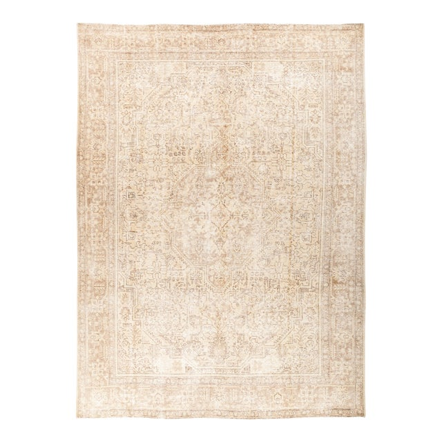 """Vintage Hand Knotted Area Rug - 7' 10"""" X 11' 1"""" - Image 1 of 4"""