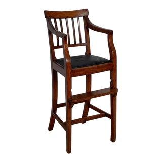 Georgian Elm Child's Chair, England Circa Early 19th Century For Sale