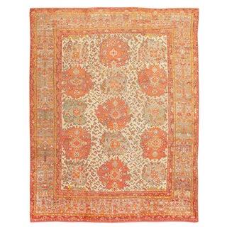 Antique Turkish Oushak Carpet - 12′ × 16′ For Sale