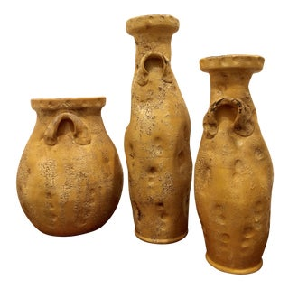 Vintage Italian Patinated Stoneware Collection - Set of 3 For Sale