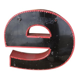 "Industrial Red and Black Metal Letter ""E"" For Sale"