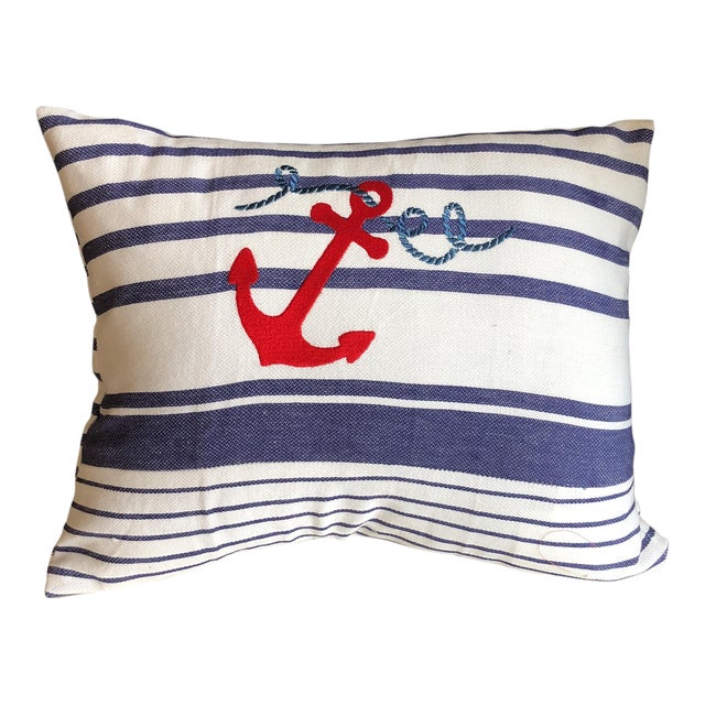 Nautical Stripes Pillows - a Pair For Sale