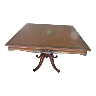 1930s Traditional Rosewood Burl Wood Breakfast Table For Sale