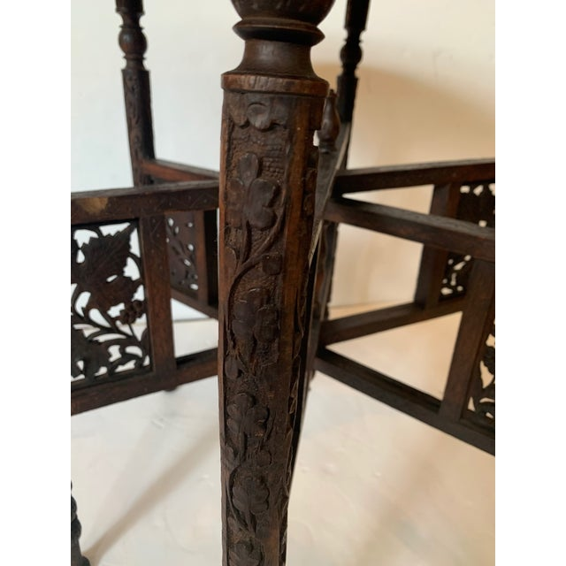 Round Moroccan Tray End Table For Sale - Image 11 of 13