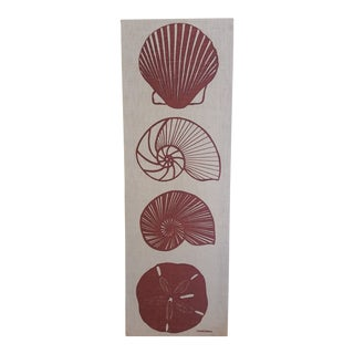1970s Vintage Marushka Sea Shell Screen Print For Sale