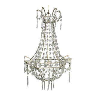 Pair of Classical Style Cut Glass Wall Lights For Sale