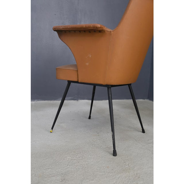 Mid-Century Modern Pair of Chairs by Nino Zoncada From 1950. For Sale - Image 3 of 7