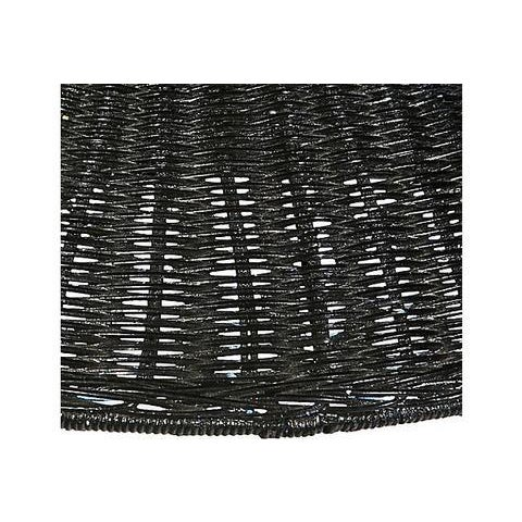 Black Wicker Hanging Pendant Lamp - Image 3 of 6