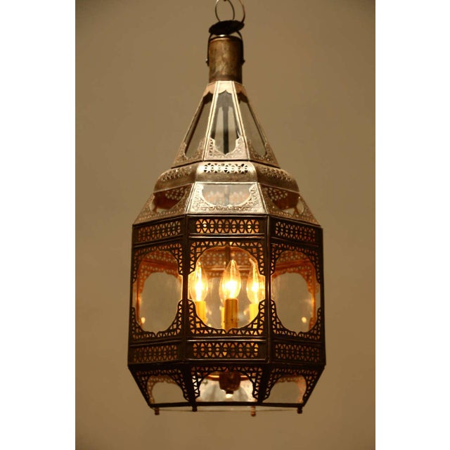 Moroccan Moorish Clear Glass Pendant For Sale - Image 9 of 9