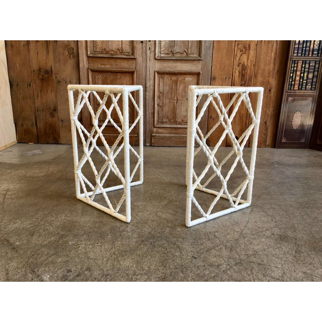 Vintage Mid-Century Faux Rope Twist Patio Set - 5 Pieces For Sale In Los Angeles - Image 6 of 13