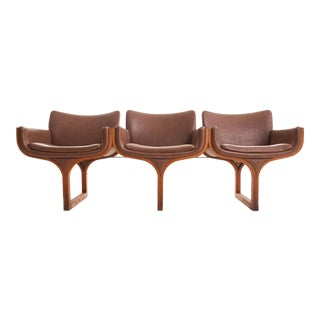 Mid Century Bentwood Sculptural Arthur Umanoff Three Seat Bench For Sale
