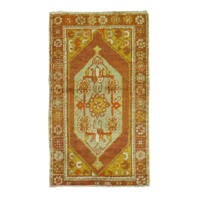 Vintage Turkish Rug, 2'6'' x 4'2'' For Sale