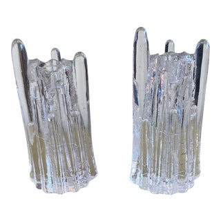 Pair of Goran Warff Polar Ice Candle Holders For Sale