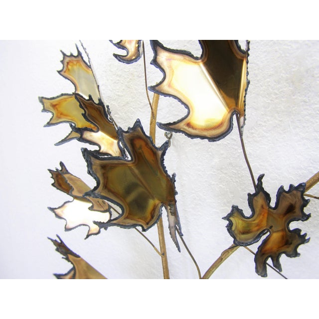 Curtis C. Jere Style Mid-Century Modern Brutalist Brass Wall Sculpture MCM For Sale - Image 9 of 11