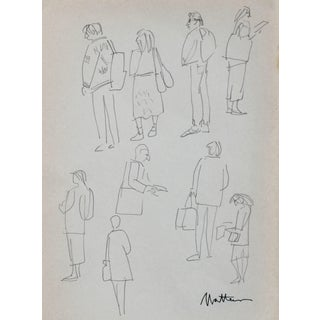 Rip Matteson Figure Studies Drawing in Graphite, 1989 For Sale