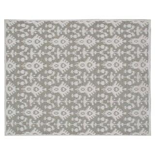 Stark Studio Rugs Contemporary Linen Soumak Rug - 10′ × 13′9″ For Sale