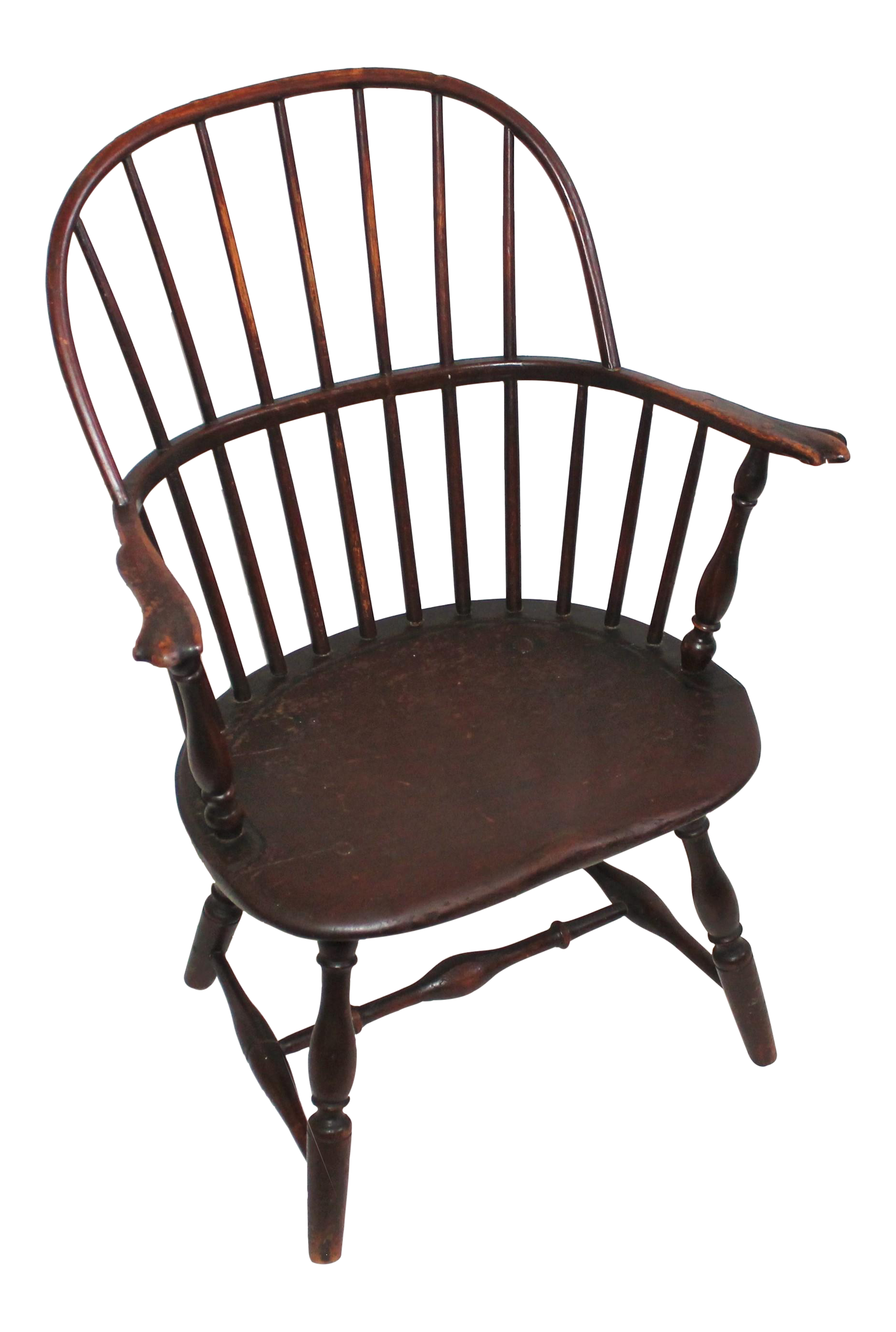 18th Century Sack Back Extended Arm Windsor Chair