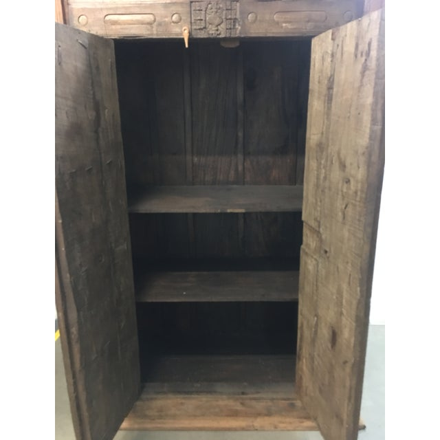 Handmade Antique Wooden Armoire - Image 7 of 9